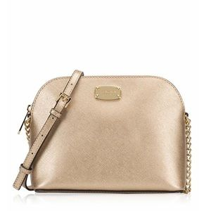 9566c635ef78 Michael Kors Bags | Authentic Mk Pale Gold Cindy Dome Crossbody ...